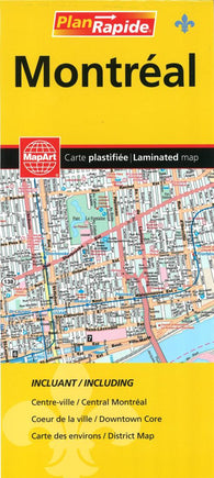 Buy map Montreal Laminated Street Map by MapArt Corporation