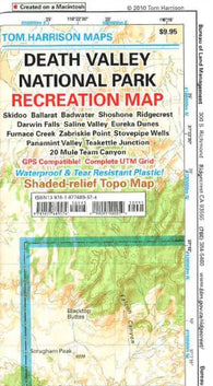 Buy map Death Valley National Park, California by Tom Harrison Maps