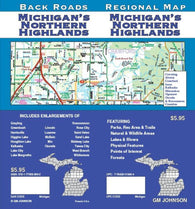 Buy map Michigan, Northern Highlands by GM Johnson