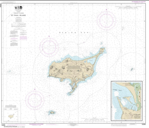 Buy map St. Paul Island, Pribilof Islands (16382-12) by NOAA