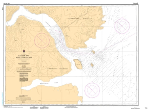 Buy map Exeter Bay and Approaches/et les Approches by Canadian Hydrographic Service