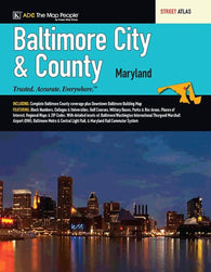 Buy map Baltimore, City & County, MD, Street Atlas by Kappa Map Group