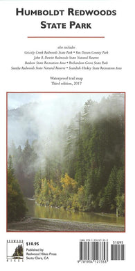 Buy map Humboldt Redwoods State Park, waterproof by Redwood Hikes Press
