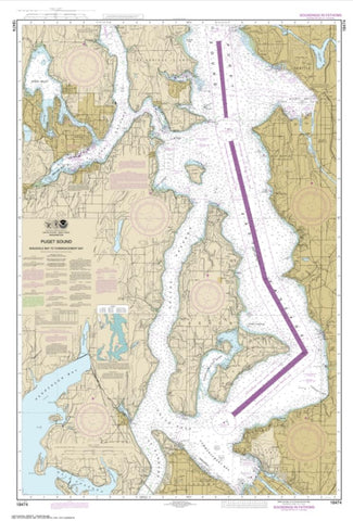 Buy map Puget Sound-Shilshole Bay to Commencement Bay (18474-10) by NOAA