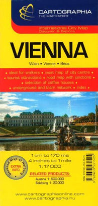 Buy map Vienna, Austria by Cartographia