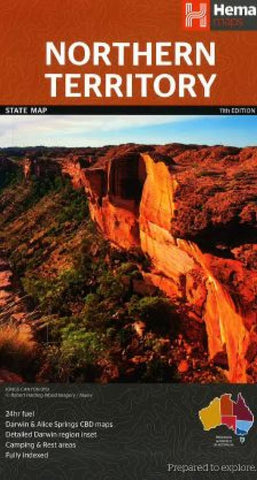 Buy map Northern Territory, Australia, State Map by Hema Maps