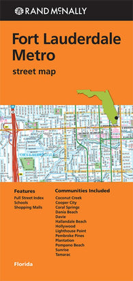 Buy map Fort Lauderdale, Florida Metro by Rand McNally