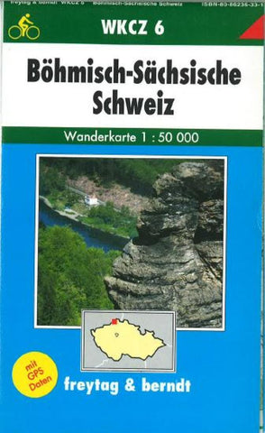 Buy map Bohemia, Saxony, Switzerland, Hiking Map WKCZ 6 by Freytag-Berndt und Artaria