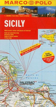 Buy map Sicily, Italy by Marco Polo Travel Publishing Ltd