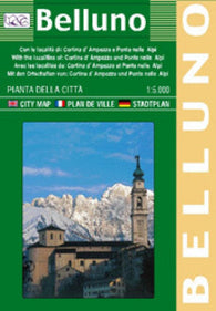 Buy map Belluno, Italy by Litografia Artistica Cartografica