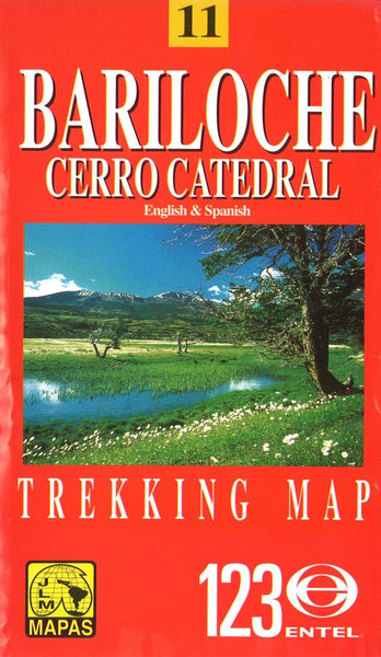Buy map Bariloche and Cerro Catedral, Chile by Juan Luis Mattassi Alonso