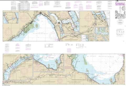 Buy map Okeechobee Waterway St. Lucie Inlet to Fort Myers; Lake Okeechobee (11428-36) by NOAA