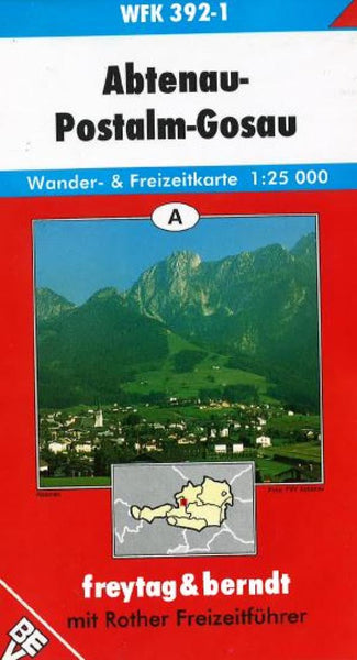 Buy map Abtenau, Postalm and Gosau, WFK 392-1 by Freytag-Berndt und Artaria