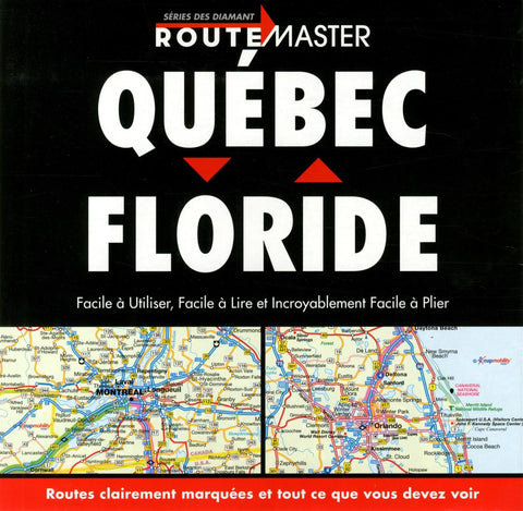 Buy map Quebec to Florida Drop Down, French Edition by Route Master