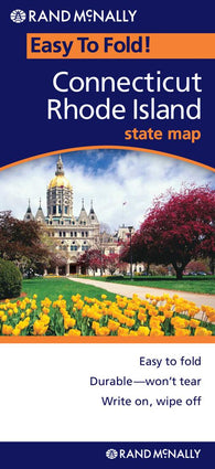 Buy map Connecticut and Rhode Island, Easy to Fold by Rand McNally