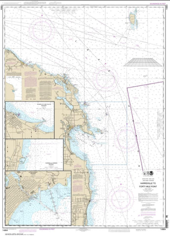 Buy map Harrisville to Forty Mile Point; Harrisville Harbor; Alpena; Rogers City and Calcite (14864-28) by NOAA