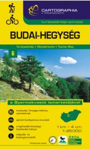 Buy map Budai Mountains, Hungary by Cartographia