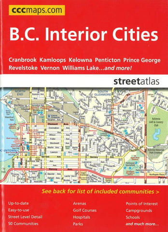 Buy map British Columbia Interior Cities Street Atlas by Canadian Cartographics Corporation
