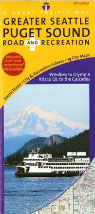 Buy map Puget Sound, Road & Recreation by Great Pacific Recreation & Travel Maps