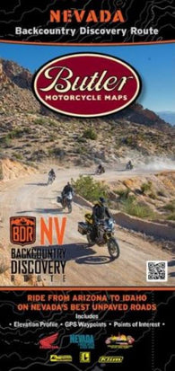 Buy map Nevada Backcountry Discovery Route, Butler Motorcycle Map by Butler Motorcycle Maps