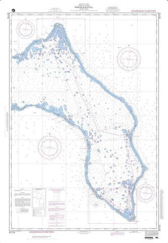 Buy map Kwajalein Atoll, Marshall Islands (NGA-81715-4) by National Geospatial-Intelligence Agency