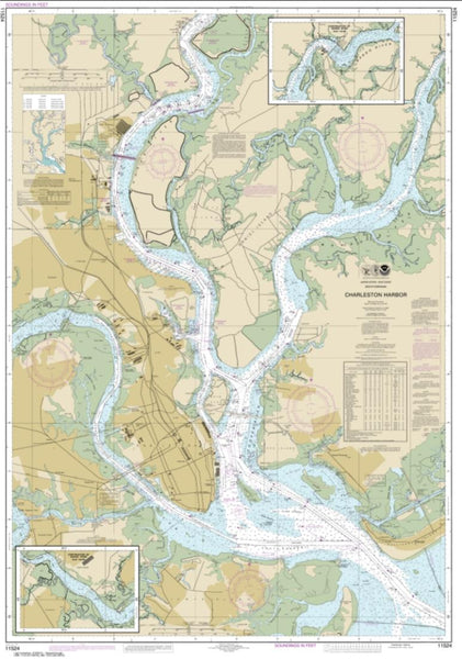 Buy map Charleston Harbor (11524-53) by NOAA