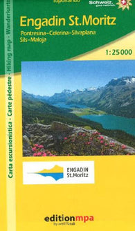 Buy map Engadin St. Moritz, Topographical Hiking Map by Edition MPA by Orell Fussli