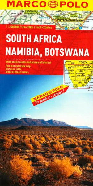 Buy map South Africa, Namibia and Botswana by Marco Polo Travel Publishing Ltd