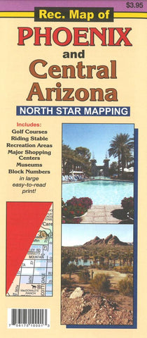 Buy map Recreation Map of Phoenix and Central Arizona by North Star Mapping