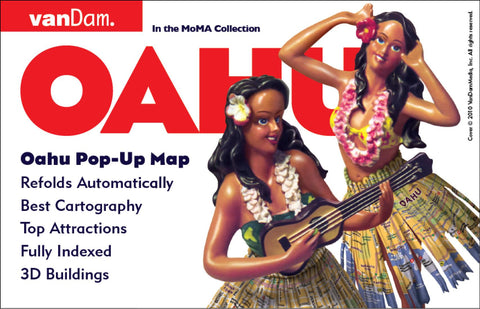 Buy map Oahu, Hawaii Pop-Up by VanDam