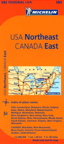 Buy map United States, Northeastern and Canada, Eastern (583) by Michelin Maps and Guides