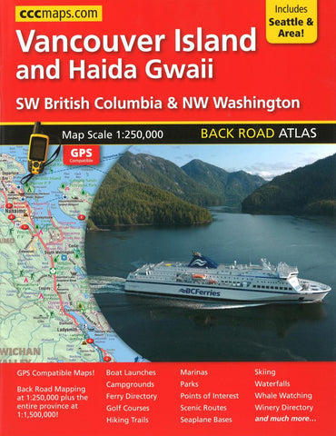 Buy map Vancouver Island and Haida Gwaii Back Road Atlas by Canadian Cartographics Corporation