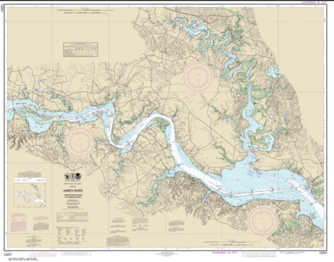 Buy map James River  Jamestown Island to Jordan Point (12251-24) by NOAA