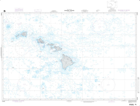 Buy map Hawaiian Islands (NGA-19008-5) by National Geospatial-Intelligence Agency