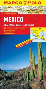Buy map Mexico, Guatemala, Belize and El Salvador by Marco Polo Travel Publishing Ltd