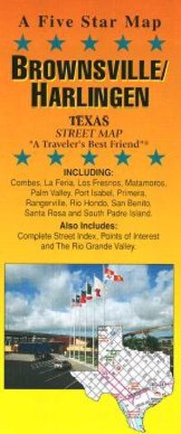 Buy map Brownsville and Harlingen, Texas by Five Star Maps, Inc.