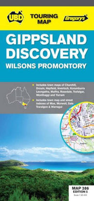 Buy map Gippsland Discovery Map by Universal Publishers Pty Ltd