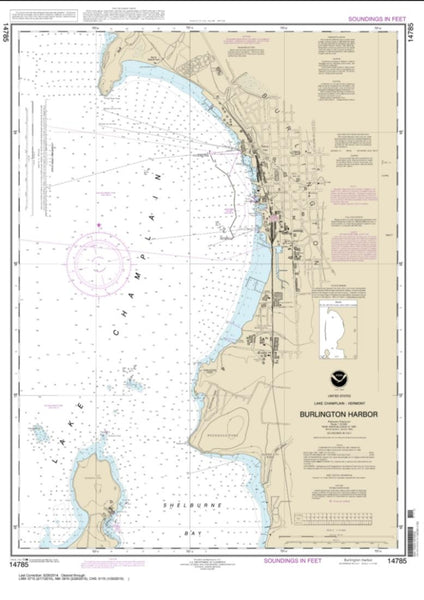 Buy map Burlington Harbor (14785-17) by NOAA