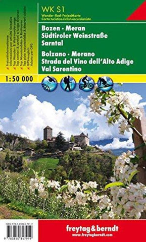 Buy map Bozen-Meran and environs by Freytag-Berndt und Artaria