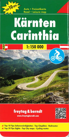 Buy map Carinthia, Road, Cycling and Leisure by Freytag-Berndt und Artaria