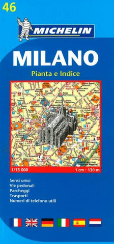 Buy map Milan, Italy (46) by Michelin Maps and Guides