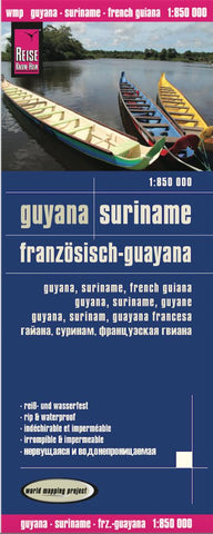 Buy map Guyana, Suriname and French Guiana by Reise Know-How Verlag