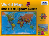 Buy map World Map, 500 Piece Puzzle by Hema Maps