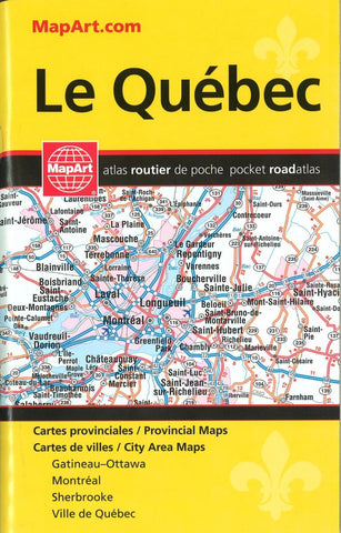 Buy map Quebec, Pocket Road Atlas by Canadian Cartographics Corporation