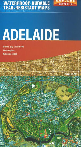 Buy map Adelaide, Australia by Explore Australia