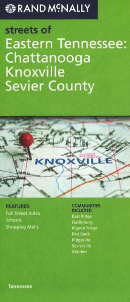 Buy map Chattanooga, Knoxville, and Sevier County, Tennessee by Rand McNally