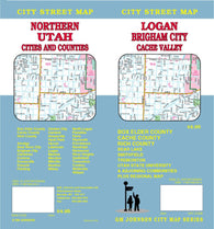 Buy map Logan, Brigham City and Northern Utah by GM Johnson