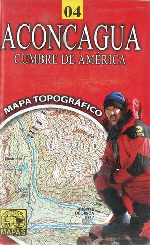 Buy map Aconcagua, Chile Hiking Map by Juan Luis Mattassi Alonso