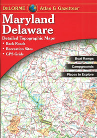 Buy map Maryland and Delaware Atlas and Gazetteer by DeLorme