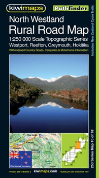Buy map North Westland, New Zealand, Rural Roads Topographic Map by Kiwi Maps